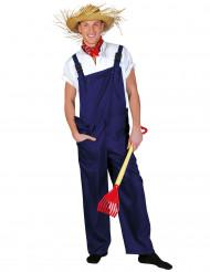 Blauwe tuinbroek voor volwassenen