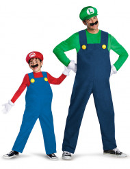Luigi™ en Mario™ koppelkostuums zoon en vader