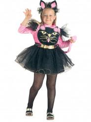 Roze en zwart kattenkostuum voor meisjes