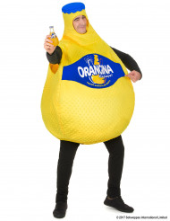 Orangina™ fles kostuum voor volwassenen