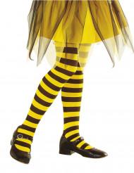 Zwart en geel gestreepte legging voor kinderen