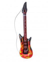 Opblaasbare rock gitaar met vlammen