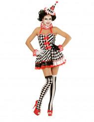 Mime kostuum met korte rok voor vrouwen