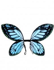 Zwarte en blauwe vlindervleugels voor meisjes