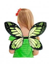 Zwarte en groene vlindervleugels voor meisjes
