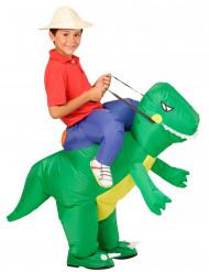 Opblaasbaar dinosaurus kostuum voor kinderen
