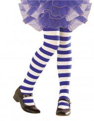 Wit met blauw gestreepte legging voor kinderen