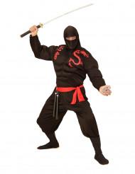Zwart gespierd ninjakostuum voor volwassenen