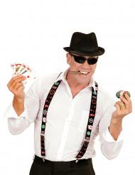 Pokerspeler bretels voor volwassenen