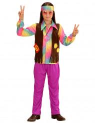 Paars hippie kostuum voor jongens