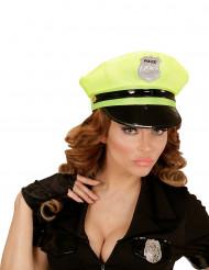 Gele politiepet voor volwassenen