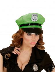 Groene politiepet voor volwassenen