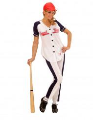 Honkbalspeler kostuum voor vrouwen