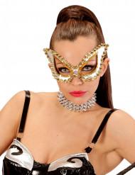 Zilverkleurig Venetiaans masker met nagels voor vrouwen