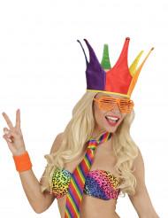 Kleurrijke narren hoed voor volwassenen
