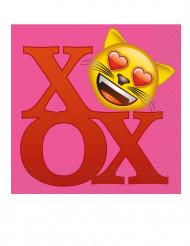 20 papieren Emoji™ servetten