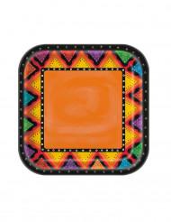 8 kartonnen Mexicaanse bordjes