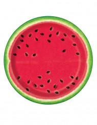 8 kleine watermeloen borden