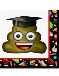 16 papieren Emoji™ servetten