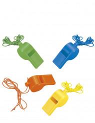4 gekleurde fluitjes