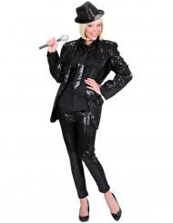 Zwarte legging met pailletten voor dames
