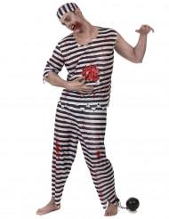 Zombie gevangene kostuum voor mannen