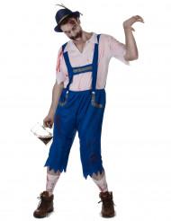 Blauw Beiers zombie kostuum voor mannen