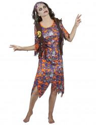Zombie hippie kostuum voor vrouwen