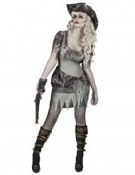 Grijs spook piraat kostuum voor vrouwen