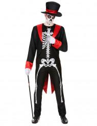 Chique skelet kostuum voor mannen