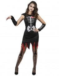 Levend skelet kostuum voor vrouwen