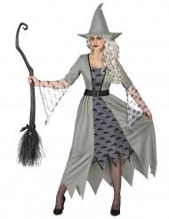 Grijs heksen kostuum voor vrouwen