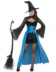 Turquoise heksen kostuum voor vrouwen