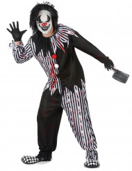 Psychopatische clown kostuum voor mannen