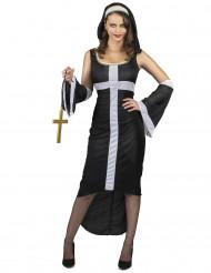 Sexy wit kruis nonnenkostuum voor vrouwen
