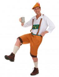 Bruin Beiers kostuum voor mannen