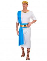 Blauwe Griekse keizer kostuum voor mannen