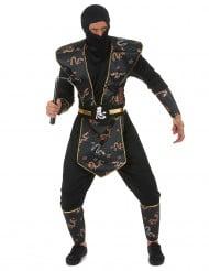 Goudkleurige draken ninja kostuum voor mannen