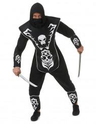 Skelet ninja kostuum voor mannen