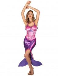 Roze zeemeermin kostuum voor vrouwen