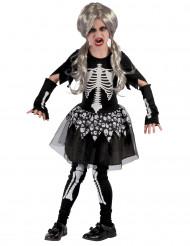 Levend skelet kostuum voor meisjes