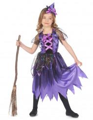 Glittersterren heksen kostuum voor meisjes
