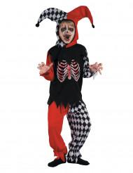 Bloederig harlekijn kostuum voor jongens