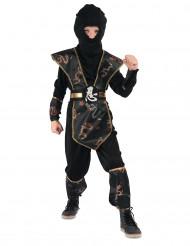 Goudkleurig draken ninja kostuum voor jongens