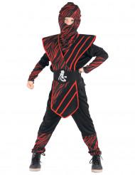 Rood gestreept ninja kostuum voor jongens