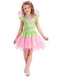 Groen en roze fee kostuum voor meisjes