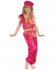 Goudkleurig en rood oriëntaals kostuum voor meisjes