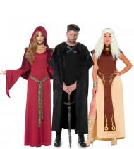 Middeleeuwse serie groepskostuum voor volwassenen