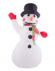 Opblaasbare sneeuwpop decoratie met licht