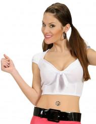Sexy witte top met strik voor vrouwen